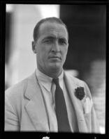 Trans-Pacific Yacht Club secretary John Wallace, 1936