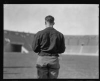 Football player Red Grange, Los Angeles Coliseum, Los Angeles, 1926