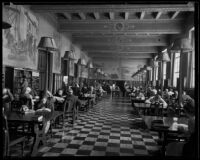 Patrons in the History Room at the Central Library, Los Angeles, 1935