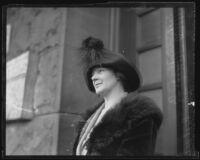Mary S. Dabelich, wife of murder victim Nicholas F. Dabelich, Los Angeles, 1922
