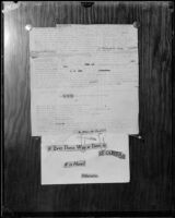 Ransom instructions, Mary B. Skeele kidnap case, 1933