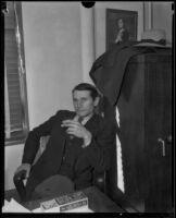 Earl H. Van Dorn, suspect in Mary B. Skeele kidnap case, 1933