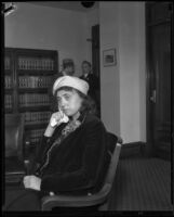 Luella Pearl Hammer, suspect in Mary B. Skeele kidnap case, 1933