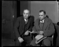 Franklin B. Skeele, son of kidnap victim Mary B. Skeele, and another man, 1933