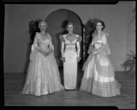 Models in gowns, Times Fashion Show, Los Angeles, 1936