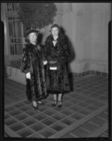 Lena and Eileen Jeffers attending Times Fashion Show, Los Angeles, 1936