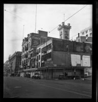 Old Los Angeles Times Building being prepared for demolition, Los Angeles, 1938
