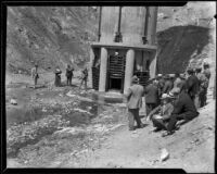 Officials attending the dedication of the Bouquet Canyon Reservoir, 1934