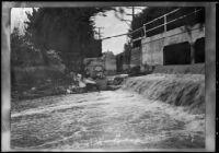 Bonita creek in flood, Newport Beach, 1935