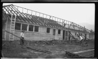 Barracks being demolished, Ross Field, Arcadia, 1932