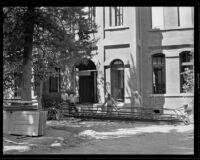 School building nearing completion, Fullerton, circa 1930-1939