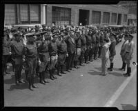 California Highway Patrol swearing in ceremony, [1929?]