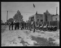California Highway Patrol inspection, Rosemead, 1935