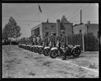 California Highway Patrol inspection, Rosemead, 1935