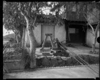 House overlooking Roosevelt Highway, damaged (or under construction), [Malibu?], circa 1929-1939