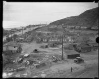 Roosevelt Highway where it crosses Topanga Creek, Malibu, 1933