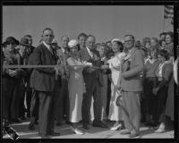 Bridge opening ceremony, Costa Mesa, 1934