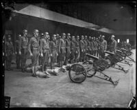 California National Guard machine gun company inside Exposition Park Armory, Los Angeles, [1926?]