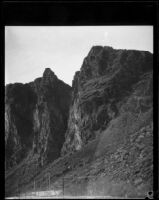 Cliffs above Colorado River near site of Parker Dam, near Parker, Arizona, 1934