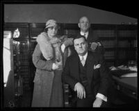 Arizona state senator Nellie T. Bush, husband Joe Bush, and another man, near Parker, Arizona, 1934