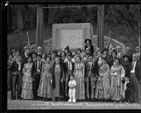 Dedication of Pioneers Monument in Ganesha Park, Pomona, 1934