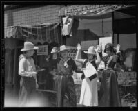 Actors in Old West drama, Covered Wagon Days Fiesta, Redondo Beach, 1934