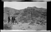 Sightseers at Red Rock Canyon State Park, California, circa 1920-1930