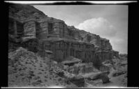 Scenic desert cliffs in Red Rock Canyon State Park, California, circa 1920-1930