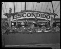 Escondido Chamber of Commerce exhibit at the Southern California Fair, Riverside, 1926