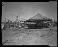 Merry-go-round at the Southern California Fair, Riverside, 1926