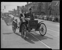 Early automobiles, Old Timers Parade, Riverside, [1933?]