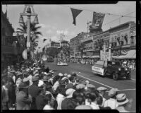 Orange Parade, Kenilworth and Mutual Orange Distributors floats, Riverside, 1933
