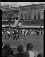Orange Parade, color guard, Riverside, 1933
