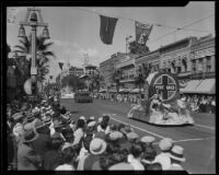 Orange Parade, Mutual Orange Distributors float, Riverside, 1933