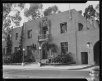 Building possibly associated with the California Pacific International Exposition in Balboa Park, San Diego, 1935-1936