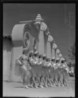 Line of dancers at the California Pacific International Exposition in Balboa Park, San Diego, 1936