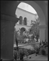 Courtyard of the House of Hospitality at the California Pacific International Exposition, San Diego, 1935-1936