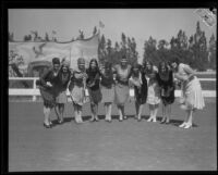 """Sweetheart Contest"" contestants at the Southern California Fair, Riverside, 1929"