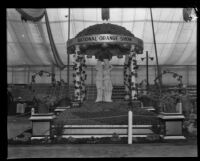 National Orange Show exhibit at the Southern California Fair, Riverside, 1929