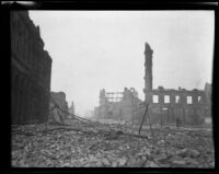 Damaged buildings after earthquake and fire, San Francisco, 1906