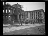James Flood Mansion and Fairmont Hotel after earthquake and fire, San Francisco, 1906