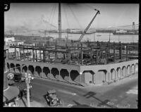 San Pedro Municipal Building under construction, San Pedro, 1928
