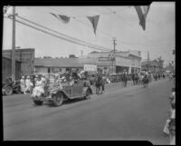 Fiesta del Oro parade on Main Street, Santa Ana, 1933