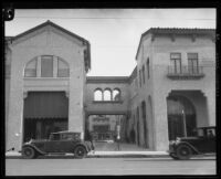 Entrance to La Arcada courtyard, Santa Barbara, [1926?]