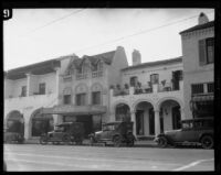 Commercial buildings on the 900 block of State Street, Santa Barbara, [1926-1929?]