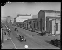 Commercial buildings on the 1000 block of State Street, Santa Barbara, [1926-1929?]