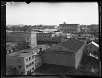 Bird's-eye view of alley behind 900 block of State Street, Santa Barbara, [1926-1929?]