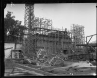 Santa Barbara Mission under restoration, Santa Barbara, 1926