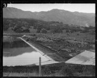 Sheffield Reservoir, rebuilt after 1925 earthquake damage, Santa Barbara, [1929?]
