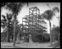 Santa Barbara County Courthouse under construction, Santa Barbara, [1925-1929]
